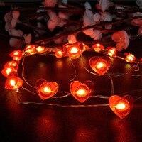 Led String Licht USB Laterne Tricolor Schmetterling Schneeflocke LED Form Dekorative Licht Im Freien Wasserdichte Kupfer String Lichter
