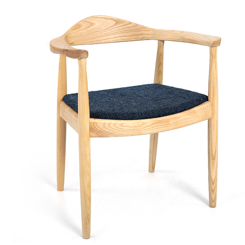 Dining Chair Solid Wood Chair Kennedy President Chair Nordic Restaurant Chair Leather Circle Chair Computer Chair Seat