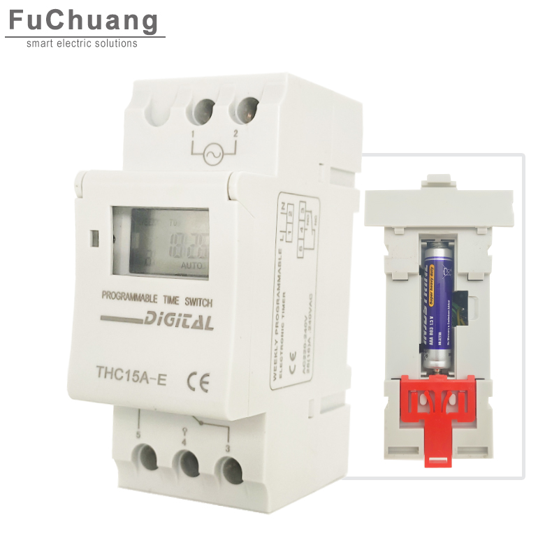 New Timer Switch THC15A E 5000W 30A update at the base of Timer relay THC15A extending standby time up to one year without power|Switches|   -