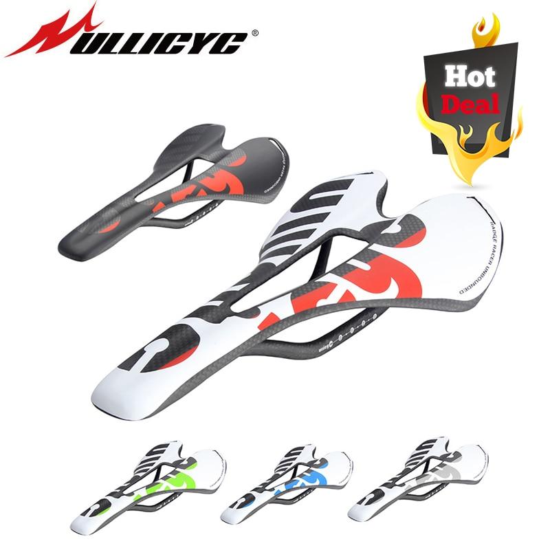 New Ullicyc 3K Full Carbon Fiber Bicycle Saddle Road/MTB Bike Carbon Saddle Seat Matte/Glossy Colorful