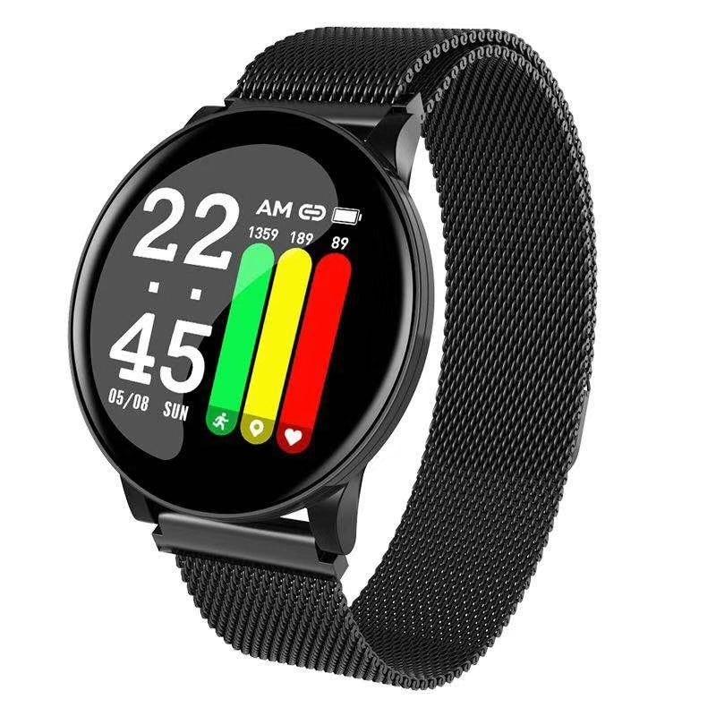 Fitness Tracker Body Temperature W8 Smart Bracelet Heart Rate Monitor Immunity Smart Watch Music Control Body Temperature Test