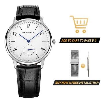 Seagull Men's Watch Manual Mechanical Watch Bauhaus Men's Watch 2020 Men's Watch 39mm Watch Business Simple Watch 819.612 2