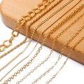 18K Золото 1 м/шт. Медный позолоченный крест ожерелье змейки цепи оптом набор «сделай сам» для бижутерии, материал для изготовления материалы ...