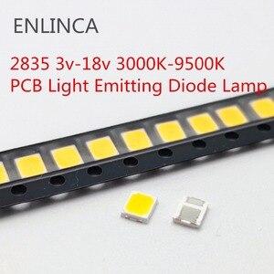 100pcs SMD LED 2835 5730 Chips 1W 3V 6V 9V 18V beads light White warm 0.5W 1W 130LM Surface Mount PCB Light Emitting Diode Lamp(China)