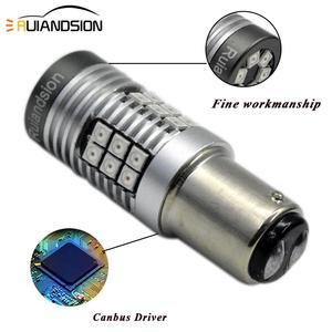 Image 3 - 2x  0.64A 8W LED Canbus BAZ15D BAY15D LED Bulb 1157 P21/5W R5W No polar Car Lights White Red Brake Lights Reverse Lamp 12V 24V
