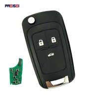 PREISEI 3 Button Replacement Flip Folding Remote Car Key For Chevrolet Cruze Malibu Aveo Spark Sail Orlando Key 433MHz ID46 Chip