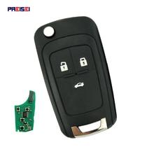 купить PREISEI 3 Button Replacement Flip Folding Remote Car Key For Chevrolet Cruze Malibu Aveo Spark Sail Orlando Key 433MHz ID46 Chip дешево