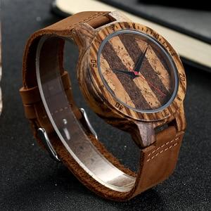 Image 5 - פרימיום פקק עץ השיש עיצוב שעוני יד Mens נשים יד קוורץ שעון גברים גבירותיי רך חומר עור רצועת לקשט שעונים