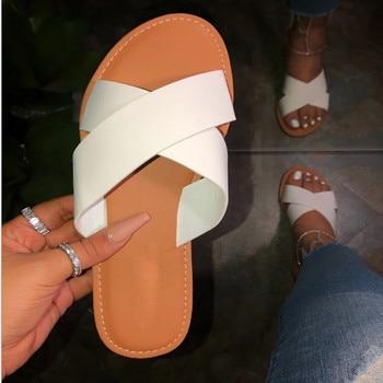 SAGACE New Summer Women Sandals Stitching Sandals Ladies Open Toe Casual Shoes Platform Wedge Slides Beach Woman Shoe 2020 19
