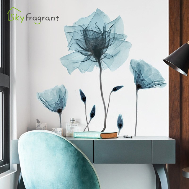 Creative Warm Floral Wall Stickers 2