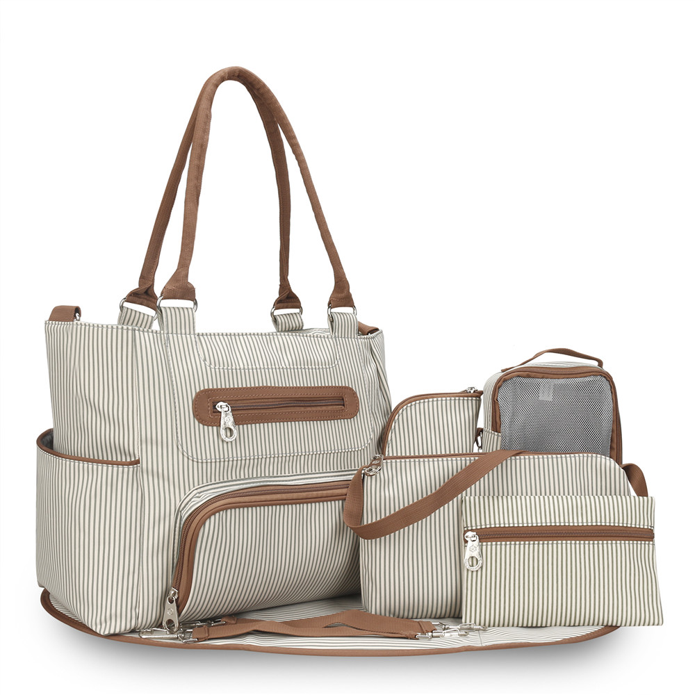 Stripe Diaper Bag Tote Ny Bags Large