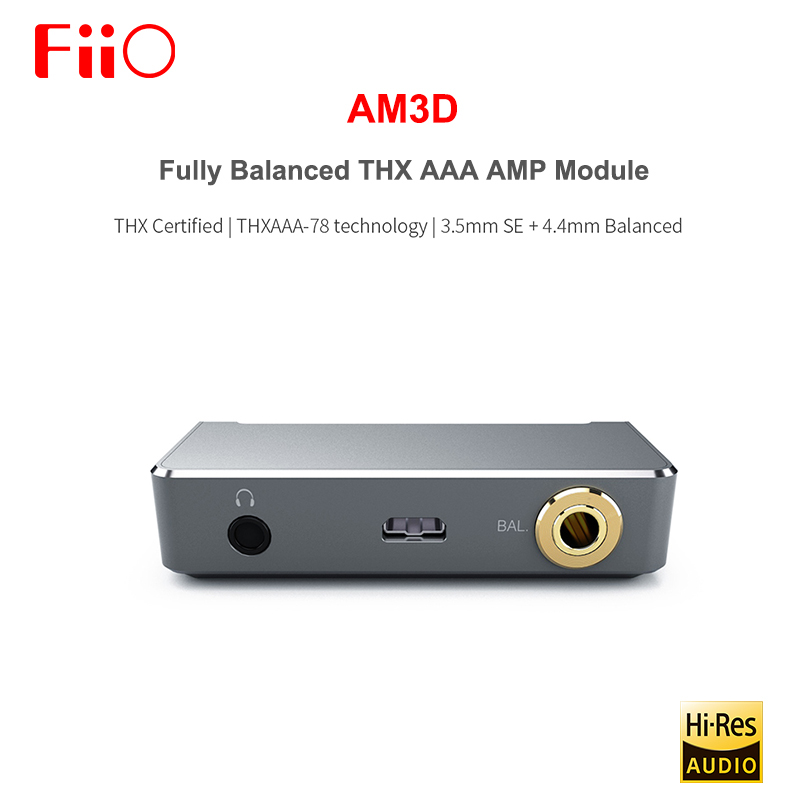 FIIO AM3D Fully Balanced 2 THX AAA-78 Headphone Amplifier AMP Module With 3.5mm SE + 4.4MM Balanced Output