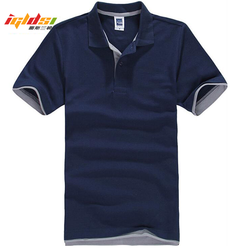 Men's Summer Classic Polo Shirt Cotton Solid Short Sleeve Tee Shirt Breathable Camisa Masculina Polo Hombre Jerseys Golftennis