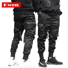 Männlichen Tanzen Hose Harem Hose Männer Streetwear Punk Hip Hop Casual Hosen Jogger Männer Multi tasche Elastische Taille Design m 4XL