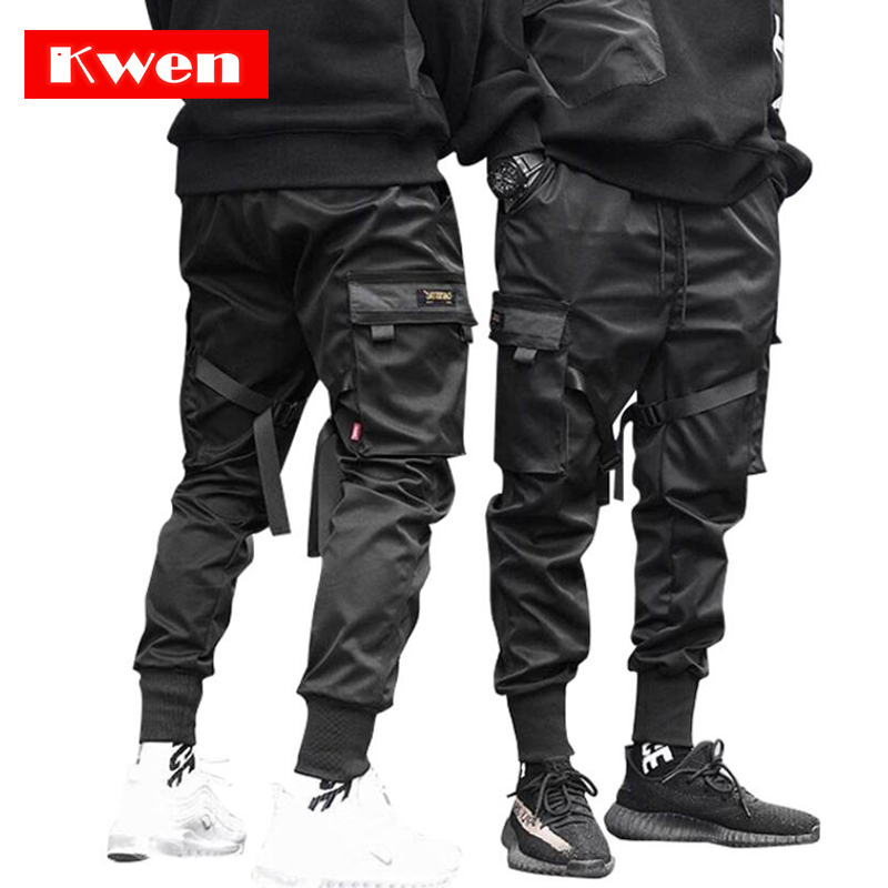 Male Dancing Pant Harem Pant Men Streetwear Punk Hip Hop Casual Trousers Joggers  Men Multi-pocket Elastic Waist Design M-4XL