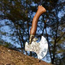 Longquan ghost hand writer with the bone cleaver cut various large bone axe shaped knives chefs with knives hand forging axes