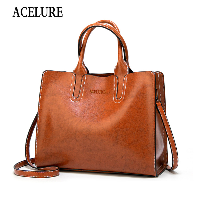 ACELURE Women Shoulder Bag Female Causal Totes for Daily Shopping All Purpose High Quality Dames Handbag Leather Bags for Women