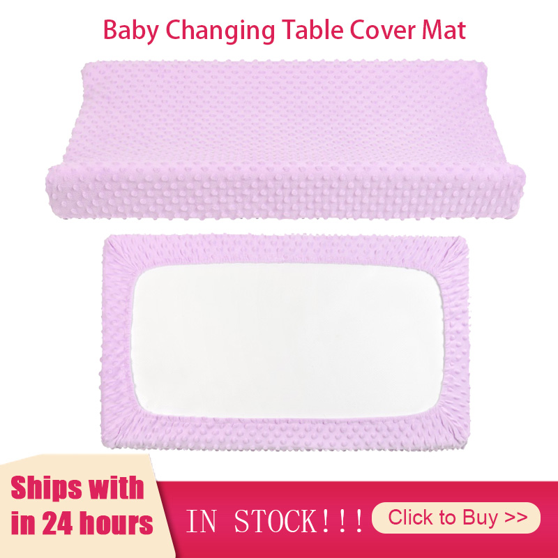 Baby Changing Station Cover Touching Massage Table Super Soft Cotton Bubble Removable Infant Diaper Organic Nursery Kids Shower