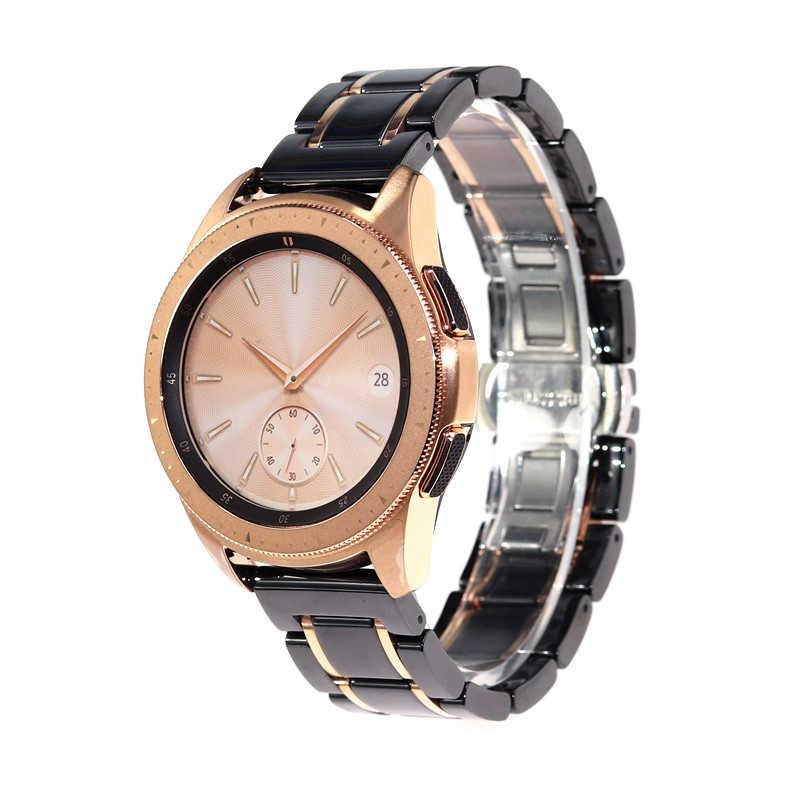 20 22 mmcorrea de cerámica para Samsung Gear S3 Galaxy Watch Active2 LTE 40 42 44 46mm AMAZFIT reloj pulsera correa de muñeca
