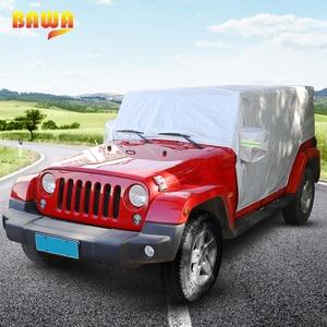 Image 2 - BAWA Auto Abdeckung Für Jeep Wrangler JK 2007 + Auto Körper Staubdicht Wasserdichte Schutz Abdeckung Zubehör für Jeep Wrangler JL 2018 +