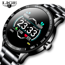 LIGE New Smart Watch Men Pedometer Heart Rate Blood Pressure
