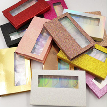 NEW 5/10/20box Packing box for eyelash blank eyelashes package Multicolor paper box clear tray Eyelashes DIY flash packing box