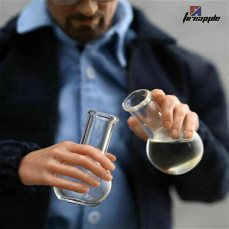 "1//6 Miniature chemical flask Glass Bottle F 12/"" Breaking Bad Accessories 2pcs"