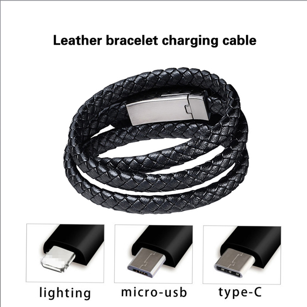 USB Bracelet Charging Cable Is Suitable for IPhone 11 Xr IOS Type C Micro USB Cable Samsung USB Fast Charging Cable for Xiaomi(China)