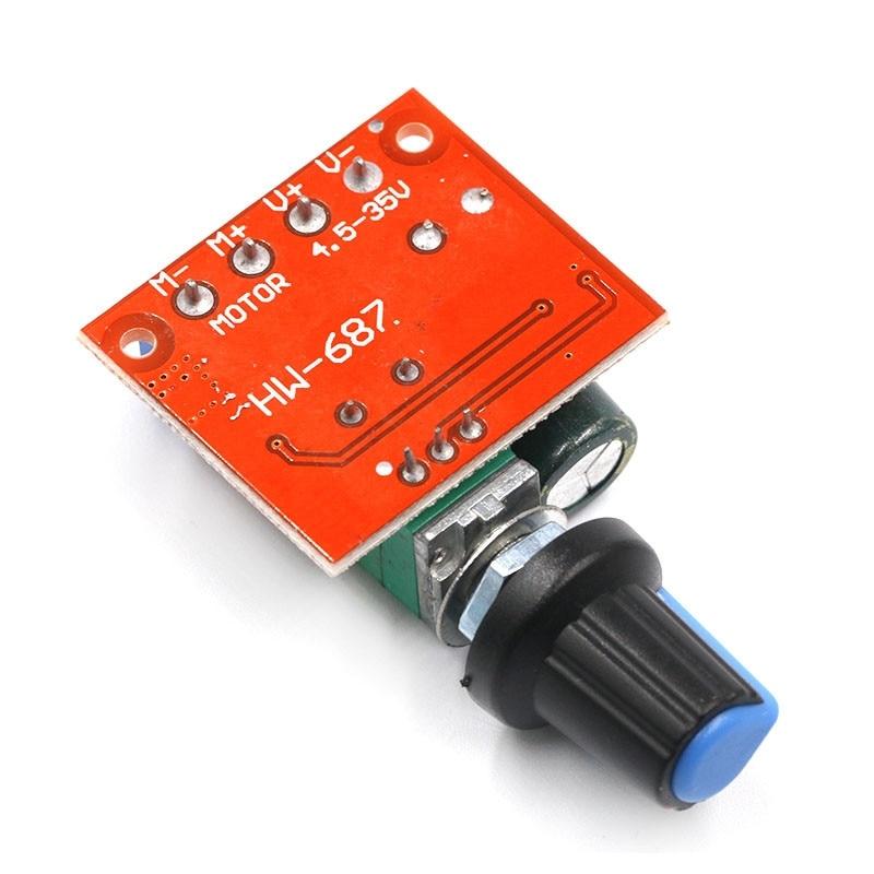 Motor Speed Controller DC 4,5-35 V 5A 90W PWM 12 V Volt Mini Motor Control DC12V Gouverneur schalter Einstellbar Stick Modul