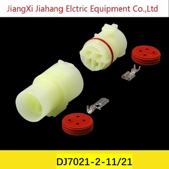 Free shipping 200sets DJ70419-6.3-11/21 4Pin 6.3mm AMP Car Electrical Wire Connectors for VW,BMW,Audi,Toyota,NISSAN