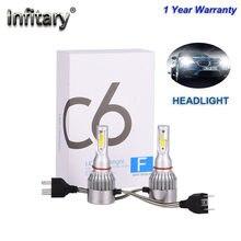 2 шт. H1 H3 светодиодный лампы для передних фар Hh4 светодиодный Автомобильные фары C6 H4 880 H11 HB3 9005 h7 9006 H13 6000K 72W 12V 8000LM авто фары S2