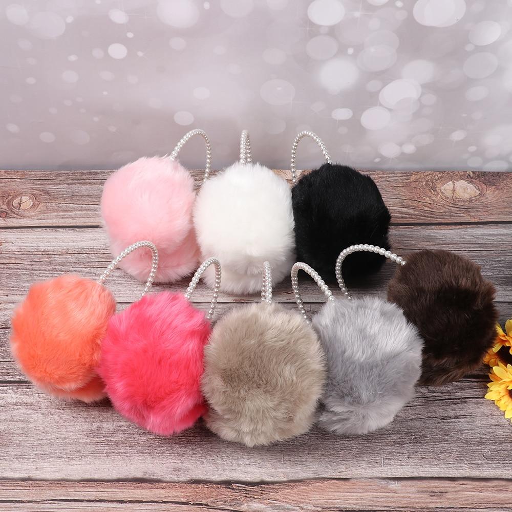 Ladies Pearl Earmuffs Fashionable Wool-Like Warm Elegant Lovely Accessories Soft High Quality Temperament Autumn Winter Earmuffs