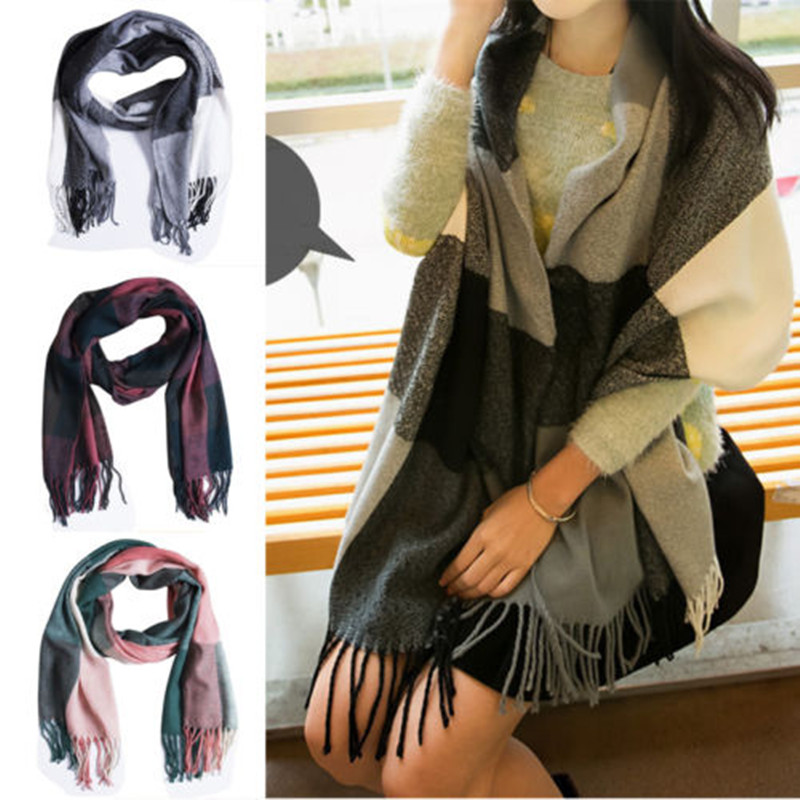 Classic Winter Scarf Women Cashmere Scarf Plaid Autumn Long Female Shawls And Scarves Blanket Wrap Soft Warm Tippet