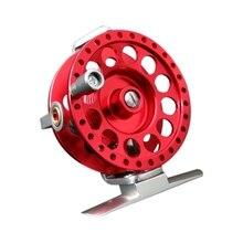 Рыболовная катушка для рыбной лески с тянущейся катушкой для подледной рыбалки, полностью Металлическая Летающая катушка, супер светильник, AT60-Red, для правой руки