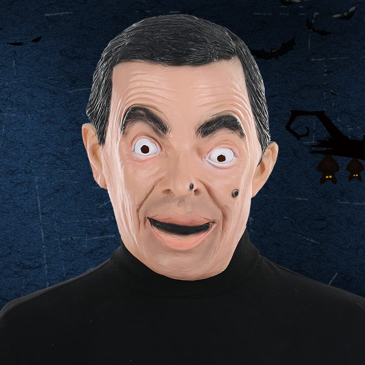 <font><b>Mr</b></font>. <font><b>Bean</b></font> Mask Cos Celebrity British Funny Star Live Performance Props Halloween Latex Funny image