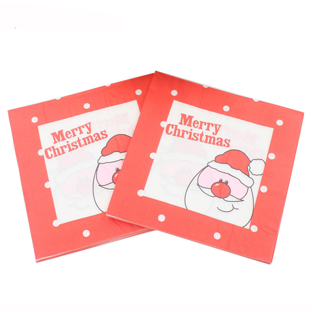 [Currently Available] Color Printed Napkin Tissue Christmas Party Paper Towel MERRY Christmas
