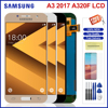 Tela de brilho ajustável para samsung galaxy a3 2017 a320 lcd display toque digitador da tela substituição para samsung a320 lcd