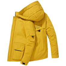 2019 High quality men #8217 s winter jacket thick snow parka overcoat white duck down jacket men wind breaker brand Tace down coat 057 cheap JUNGLE ZONE Thick (Winter) G057 REGULAR Casual zipper Denim Polyester Acetate Full Solid NONE Button Pockets Zippers Short