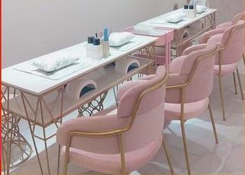 Nordic double nail art stół i krzesło zestaw połączenie pojedynczy podwójny potrójny marmurowy złoty stół do paznokci jest prosty i nowoczesny tanie i dobre opinie Andessoer CN (pochodzenie) Salon mebli Stół paznokci Meble sklepowe