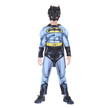 Superhero Movie Cosplay Anime Children's Halloween Costumes for Kids Muscle Jumpsuits Bodysuit Masquerade Carnival