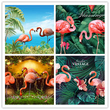 Diamond Painting Animal Flamingo Round Diamond Embroidery Bird Picture Full Drilling Cross Stitch Home Decoration New Year Gift(China)