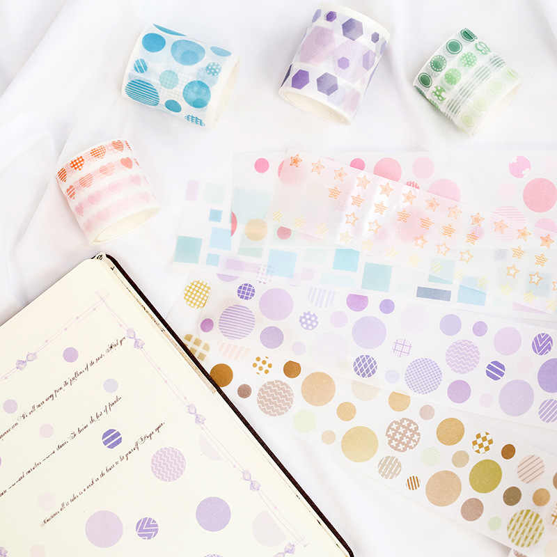 Colorful Star Washi Tape Scrapbook Supply 20mm x 3M Roll  No.10561