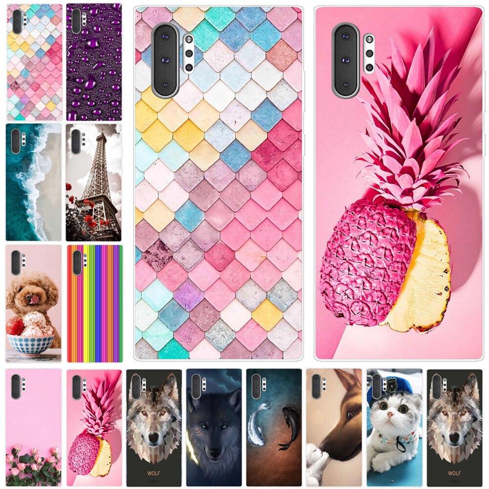 Case For Samsung Note 10 Plus Case Silicon Tpu Phone Case For Samsung Galaxy Note 10 Plus Note10 Pro Case Back Cover Funda Coque