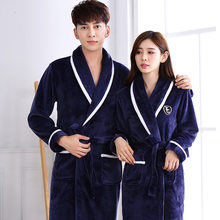 Sexy Men's Robes Winter Lengthened Plush Shawl Bathrobe Home Clothes Long Sleeved Robe Coat V-Neck Casual Home Clothes Sleepwear