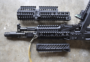 Ligero AK 47 20mm picatinny rail handguard sistema de montaje baswe aleación de aluminio superior inferior parte B30 B31 rail M2019