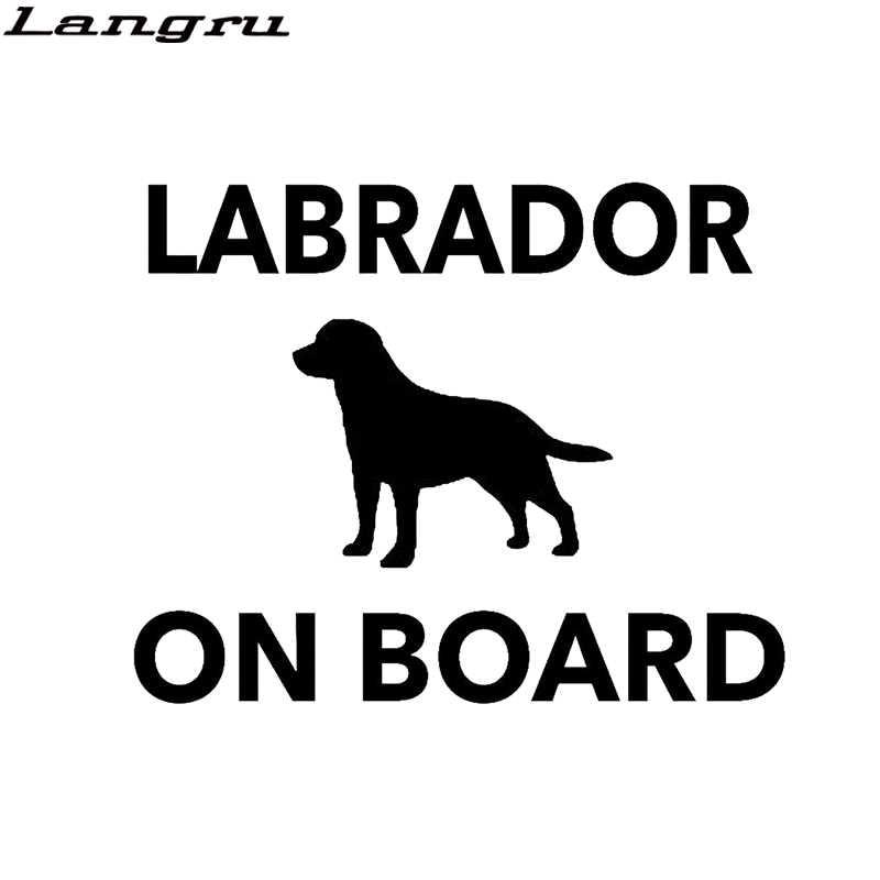 Langru Labrador kurulu 4x4 komik köpek araba tampon çıkartması vinil çıkartması araba aksesuarları Jdm
