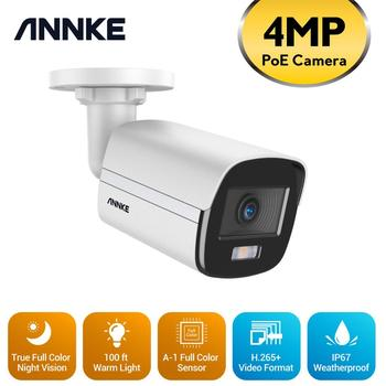 ANNKE 4MP Ace Full Color Night Vision POE IP Camera H.265+ Video Surveillance Camera 100FT Warm Light Security Camera CCTV Cam 1