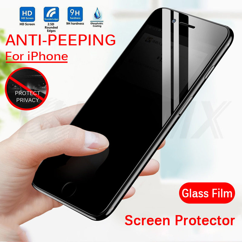 Iphone 6 Privacy Protective Tempered Glass Film HD Full Cover Anti-spy Screen Protector for IphoneX XR XS 7 Max XR 11 11PRo(China)