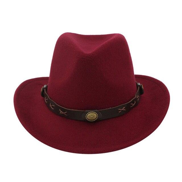 Hiver hommes et femmes tissé Cowboy chapeau classique Cattleman chapeau de plein air