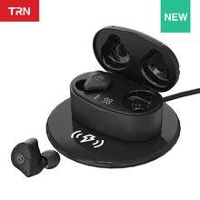 TRN T300 nowy TWS 2BA + 1DD 5.2 słuchawki Bluetooth prawdziwe bezprzewodowe podwójne słuchawki douszne słuchawki HIFI QCC3046 Chip /AAC